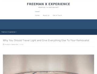freemanxexperience.com.au screenshot
