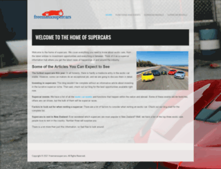 freemanxsupercars.co.nz screenshot
