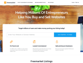 freemarket.com screenshot