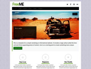 freeme.bootstrapmaster.com screenshot