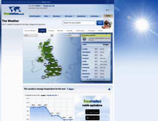 freemeteo.co.uk screenshot