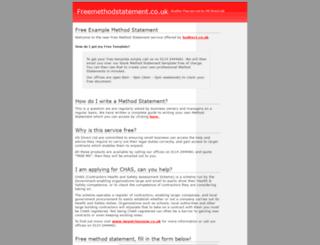 freemethodstatement.co.uk screenshot