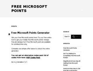 freemicrosoftpointsgen.com screenshot