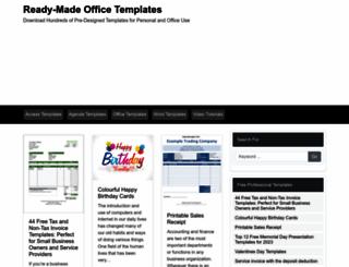 freemicrosofttemplates.com screenshot