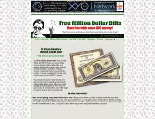 freemilliondollarbills.com screenshot