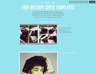 freemixtapecovertemplates.tumblr.com screenshot