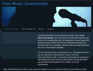 freemusicdownloader.com screenshot