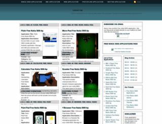 freenokia5800applications.blogspot.com screenshot