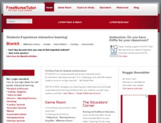 freenursetutor.com screenshot