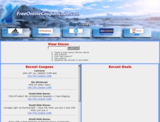 freeonlinecouponcode.com screenshot