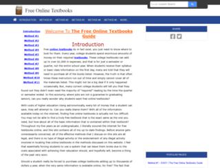 freeonlinetextbooks.net screenshot