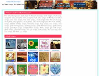 freeorkutscraps.com screenshot