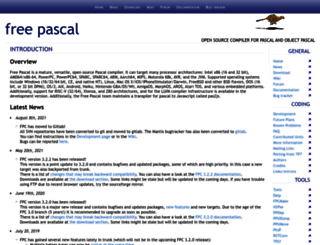 freepascal.org screenshot