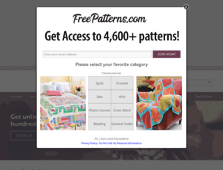 freepatterns.com screenshot