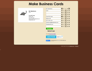 freepdfcards.com screenshot