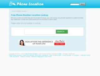 freephonelocation.com screenshot