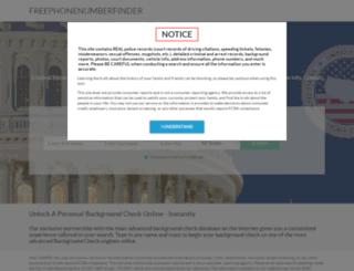 freephonenumberfinder.com screenshot