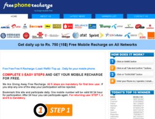 freephonerecharge.in screenshot