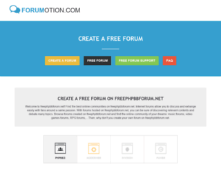 freephpbbforum.net screenshot