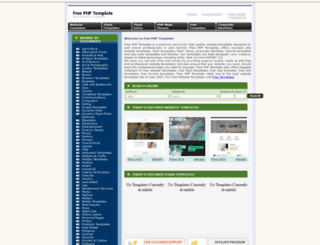 freephptemplate.com screenshot