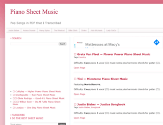 freepianosheetsdownload.blogspot.ro screenshot