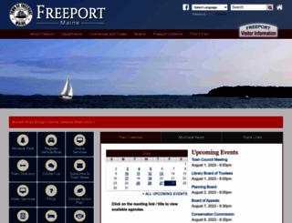 freeportmaine.com screenshot