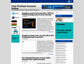 freepremiumaccountonline.blogspot.com screenshot