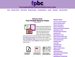 freeprintablebehaviorcharts.com screenshot