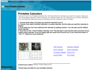 freeprintablecalendar.net screenshot