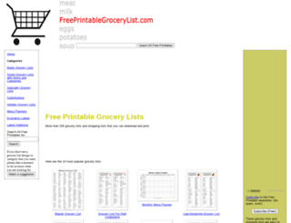 freeprintablegrocerylist.com screenshot