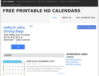 freeprintablehdcalendars.com screenshot