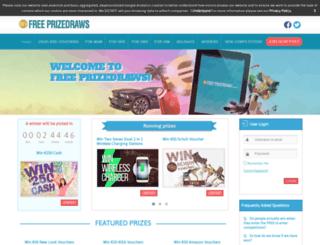 freeprizedraws.ie screenshot