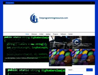 freeprogrammingresources.com screenshot