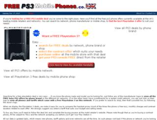 freeps3mobilephones.co.uk screenshot