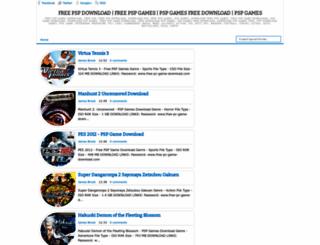 freepspgameonline.blogspot.com screenshot