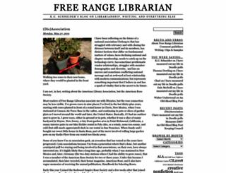 freerangelibrarian.com screenshot