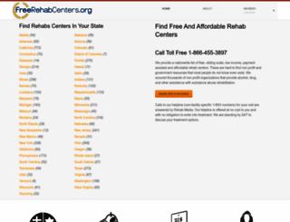 freerehabcenters.org screenshot
