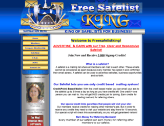 freesafelistking.com screenshot