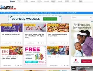 freesamplegiveaway.com.au screenshot