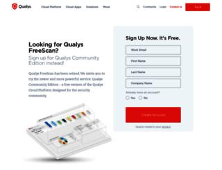 freescan.qualys.com screenshot