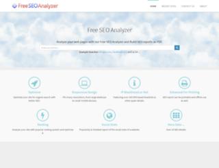 freeseoanalyzer.com screenshot