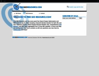 freeseoresource.com screenshot