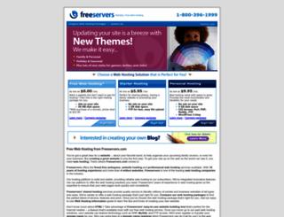 freeservers.com screenshot