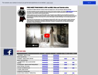 freesheetpianomusic.com screenshot