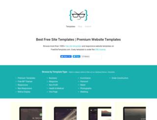 freesitetemplate.com screenshot