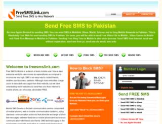 freesmslink.com screenshot