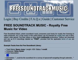 freesoundtrackmusic.com screenshot