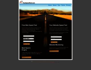 freespeedtest.com screenshot