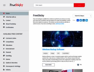 freesticky.com screenshot