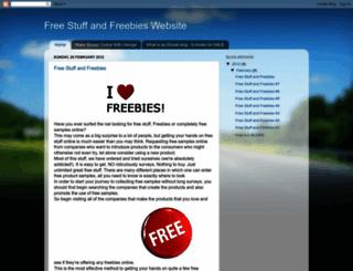 freestuffandfreebieswebsite.blogspot.co.nz screenshot